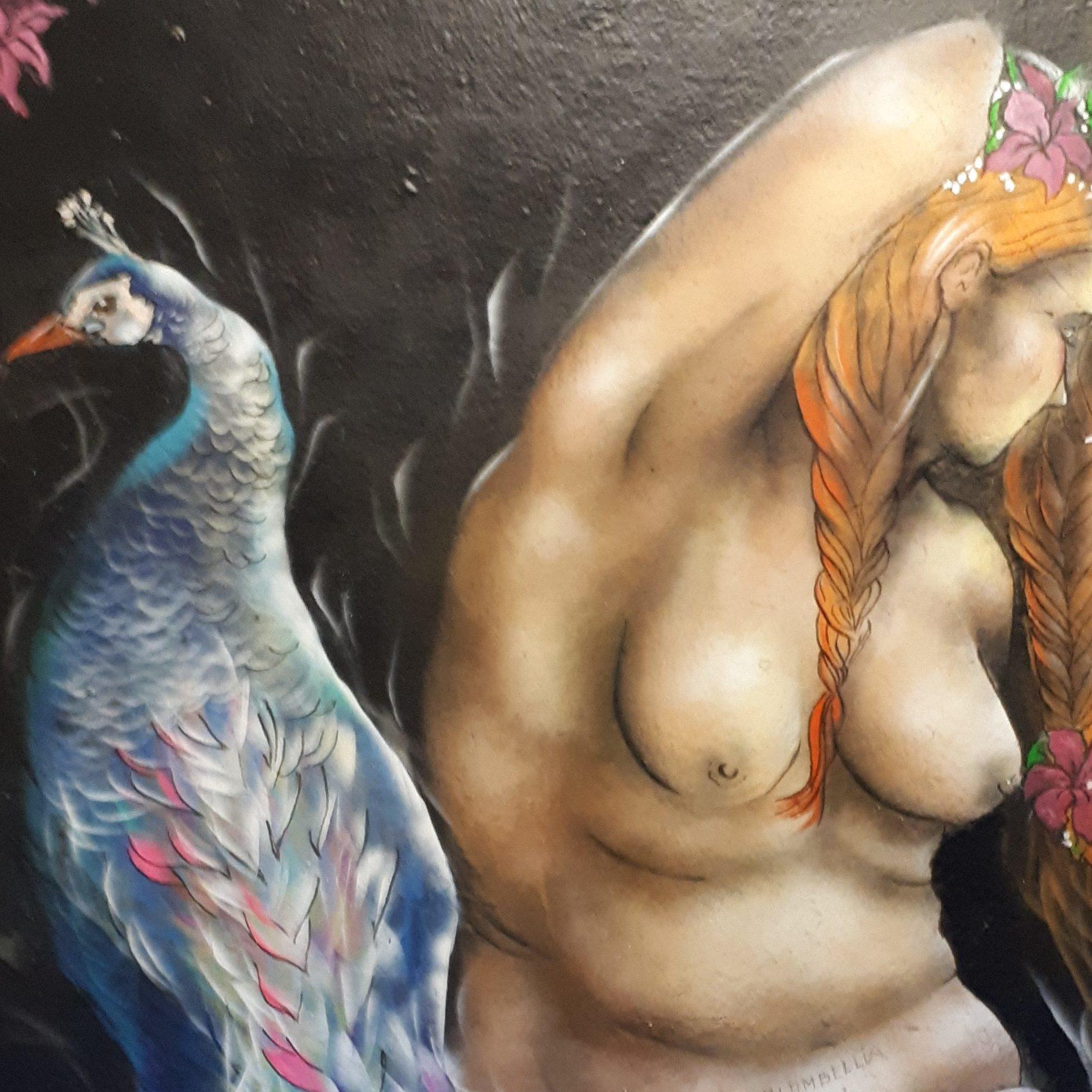 La donna e il pavone